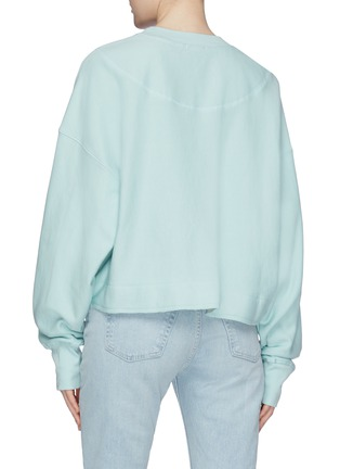 Back View - Click To Enlarge - BASSIKE - Raw hem cropped sweatshirt