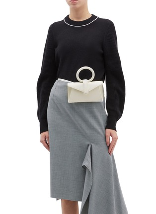 Figure View - Click To Enlarge - COMPLÉT - 'Valery' micro leather envelope belt bag