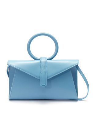 Main View - Click To Enlarge - COMPLÉT - 'Valery' ring handle mini leather envelope clutch