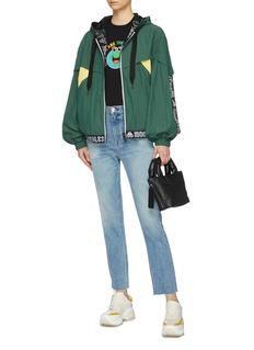 Moose Knuckles 'PIE-IX' logo stripe colourblock windbreaker jacket
