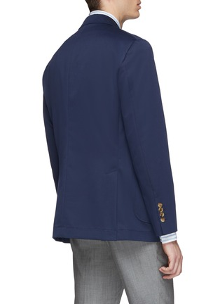 Back View - Click To Enlarge - Brunello Cucinelli - Wool-cotton soft blazer
