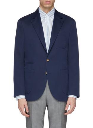 Main View - Click To Enlarge - Brunello Cucinelli - Wool-cotton soft blazer
