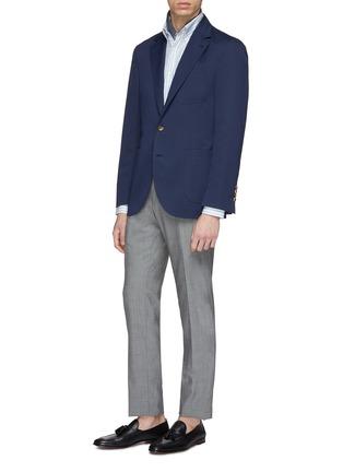 Figure View - Click To Enlarge - Brunello Cucinelli - Wool-cotton soft blazer