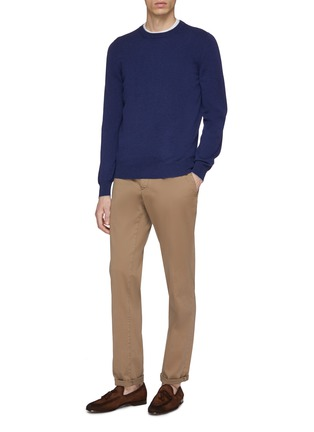 Figure View - Click To Enlarge - Brunello Cucinelli - Two-ply cashmere sweater