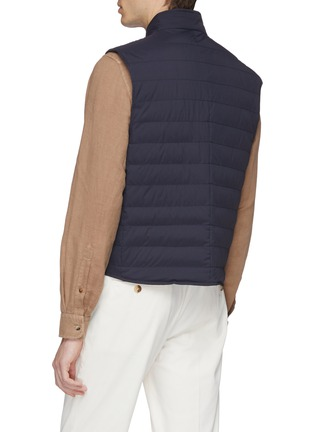 Back View - Click To Enlarge - Brunello Cucinelli - Stand collar puffer gilet