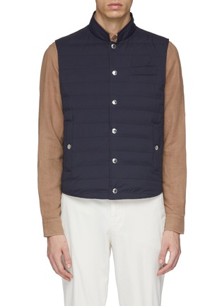Main View - Click To Enlarge - Brunello Cucinelli - Stand collar puffer gilet