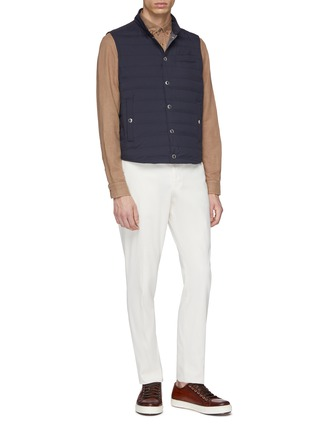 Figure View - Click To Enlarge - Brunello Cucinelli - Stand collar puffer gilet