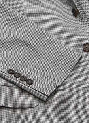 - Brunello Cucinelli - Linen-wool-silk houndstooth soft blazer
