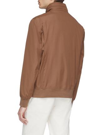Back View - Click To Enlarge - Brunello Cucinelli - Retractable hood water-repellent varsity jacket