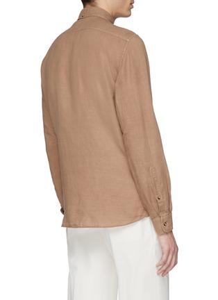 Back View - Click To Enlarge - Brunello Cucinelli - Linen-cotton shirt