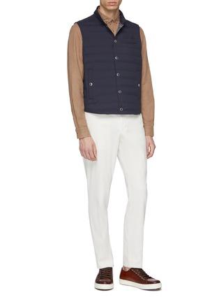 Figure View - Click To Enlarge - Brunello Cucinelli - Linen-cotton shirt