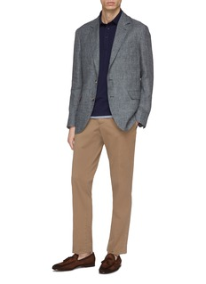 Brunello Cucinelli Linen houndstooth check plaid soft blazer