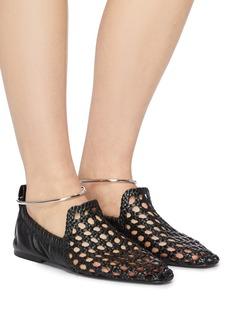 Jil Sander Anklet open weave leather flats