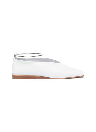 Main View - Click To Enlarge - Jil Sander - Anklet choked-up leather flats