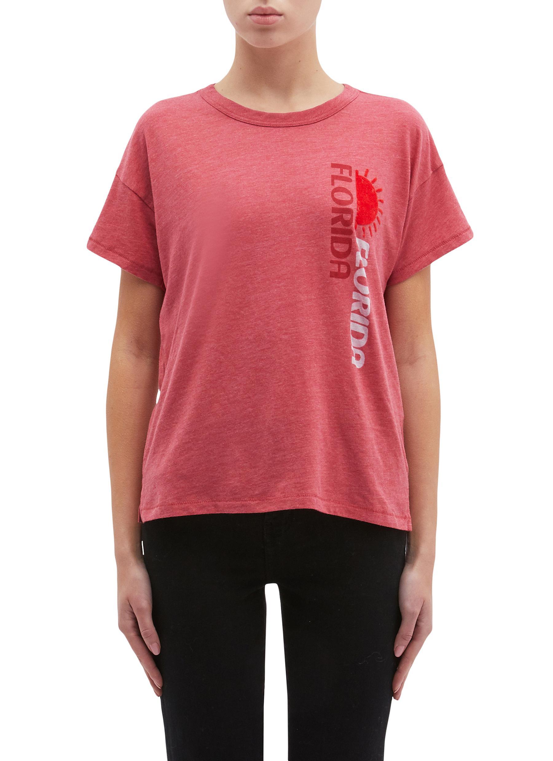 0ed7c4bf RAG & BONE/JEAN | 'Florida' sun velvet flock print T-shirt | Women ...