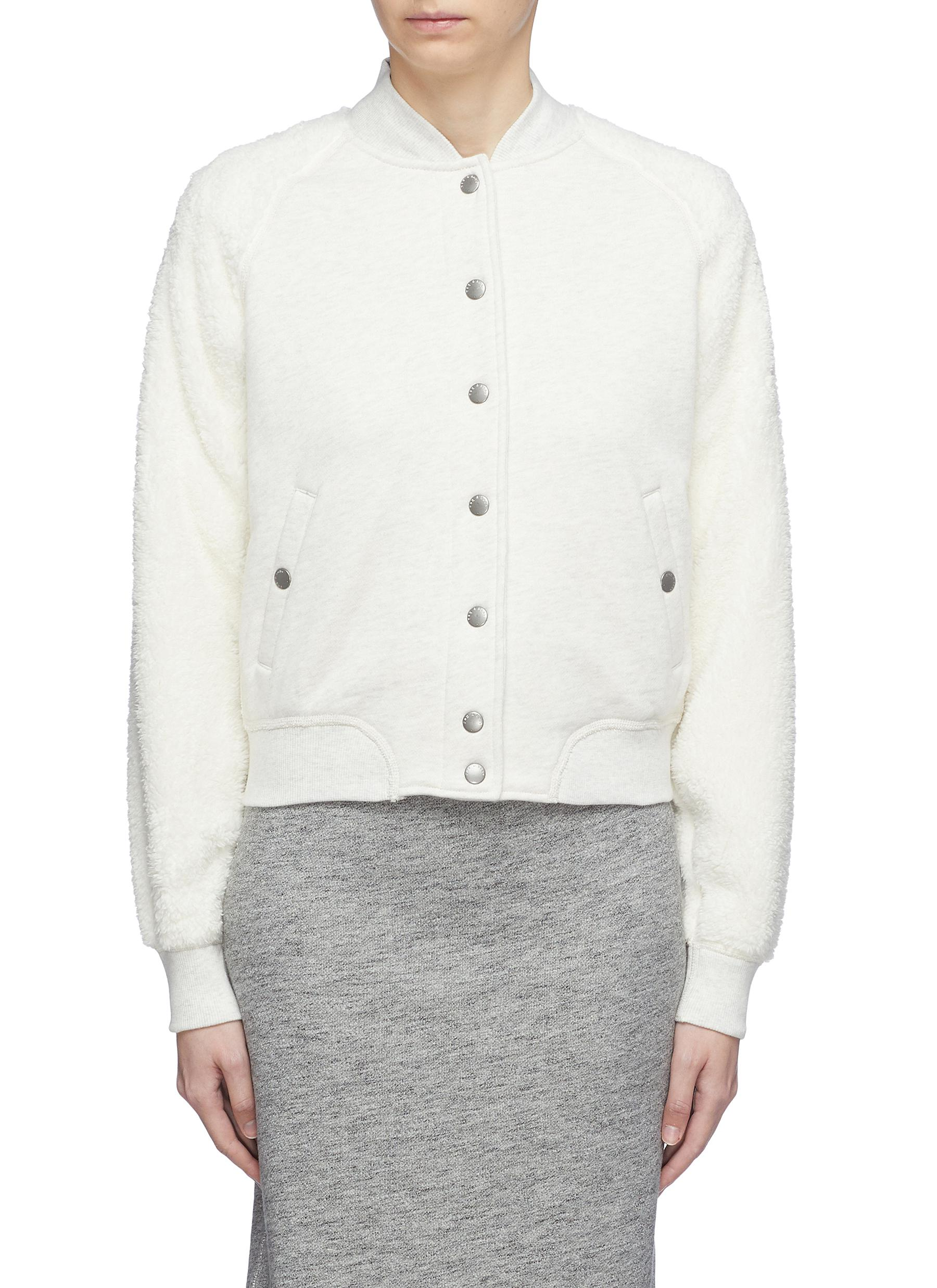 Faux fur sleeve bomber jacket by Rag & Bone/Jean