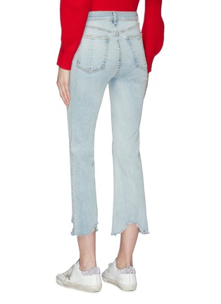Back View - Click To Enlarge - rag & bone/JEAN - 'Hana' distressed cuff cropped jeans
