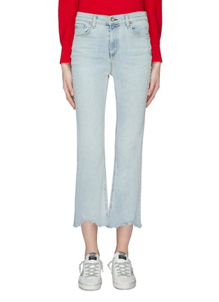 Main View - Click To Enlarge - rag & bone/JEAN - 'Hana' distressed cuff cropped jeans