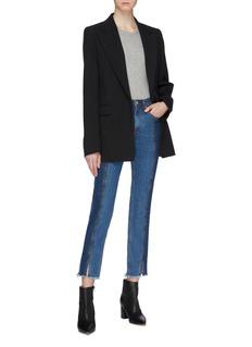 rag & bone/JEAN 'Evelyn' colourblock patchwork split raw cuff jeans