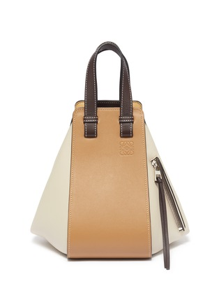 Main View - Click To Enlarge - LOEWE - 'Hammock' colourblock small leather bag