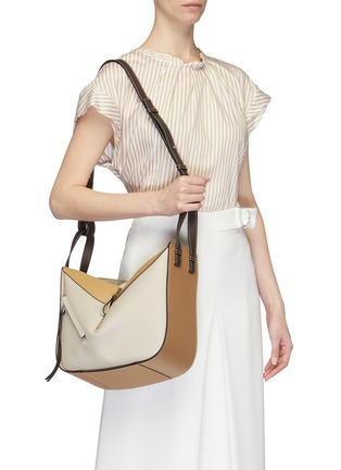 Figure View - Click To Enlarge - LOEWE - 'Hammock' colourblock small leather bag