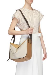 LOEWE 'Hammock' colourblock small leather bag
