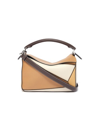 3d3464bfc7 LOEWE  Puzzle  colourblock small leather bag