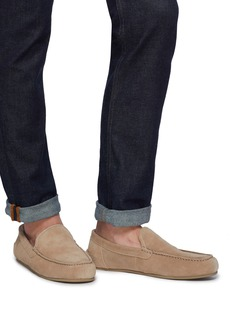 Vince 'Gino' shearling lined suede slip-ons
