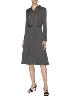 Equipment 'Bancort' belted grid print dress