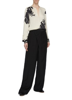 Equipment 'Delainey' blouson sleeve floral print silk blend shirt
