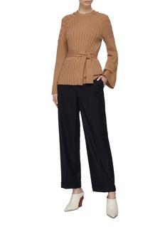 Equipment 'Dorsie' sash tie flared sleeve wool-cashmere sweater