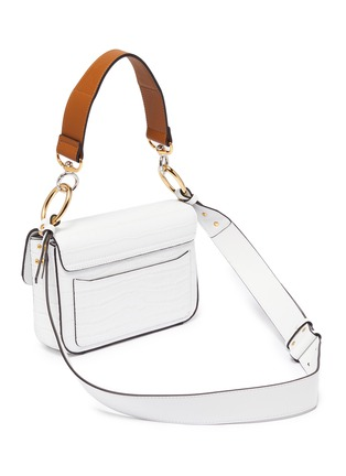 Detail View - Click To Enlarge - CHLOÉ - 'Chloé C' small croc embossed leather double carry bag