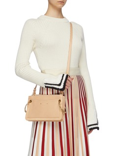 Chloé 'Roy' ring suede panel mini leather crossbody bag