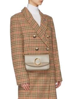 Chloé 'Chloé C' suede panel mini leather shoulder bag
