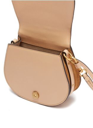 Detail View - Click To Enlarge - Chloé - 'Nile' small bracelet handle croc embossed leather crossbody bag