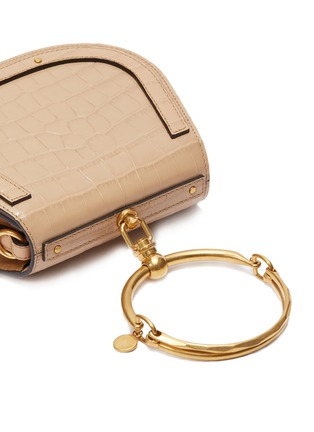 - Chloé - 'Nile' small bracelet handle croc embossed leather crossbody bag
