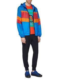 Moncler Genius x Craig Green 'Stunt' logo colourblock hooded ripstop jacket