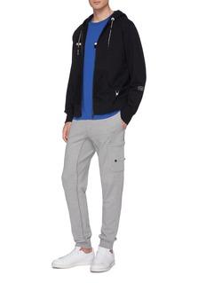 Moncler Genius x Fragment Hiroshi Fujiwara detachable logo appliqué slogan print zip hoodie
