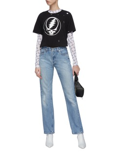 R13 Lace-up back jeans