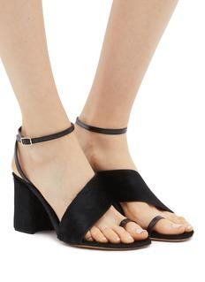 Dries Van Noten Toe ring pony hair sandals