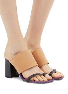 Dries Van Noten Colourblock leather sandals