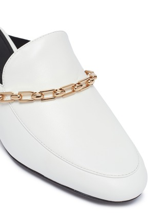 Detail View - Click To Enlarge - Stella Luna - Chain strap leather mules
