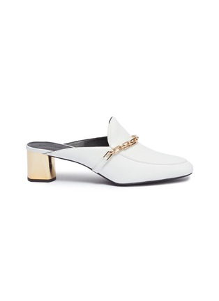 Main View - Click To Enlarge - Stella Luna - Chain strap leather mules
