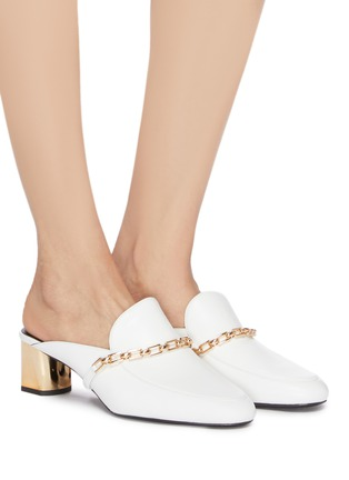 Figure View - Click To Enlarge - Stella Luna - Chain strap leather mules