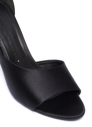 Detail View - Click To Enlarge - STELLA LUNA - 'Red Carpet' ankle strap satin d'Orsay sandals
