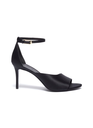 Main View - Click To Enlarge - STELLA LUNA - 'Red Carpet' ankle strap satin d'Orsay sandals