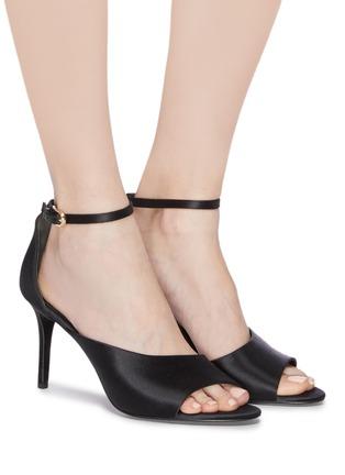 Figure View - Click To Enlarge - STELLA LUNA - 'Red Carpet' ankle strap satin d'Orsay sandals