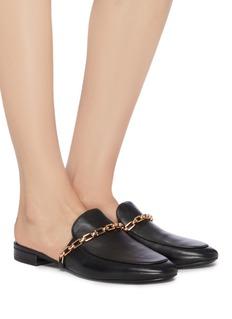 Stella Luna Chain leather loafer slides