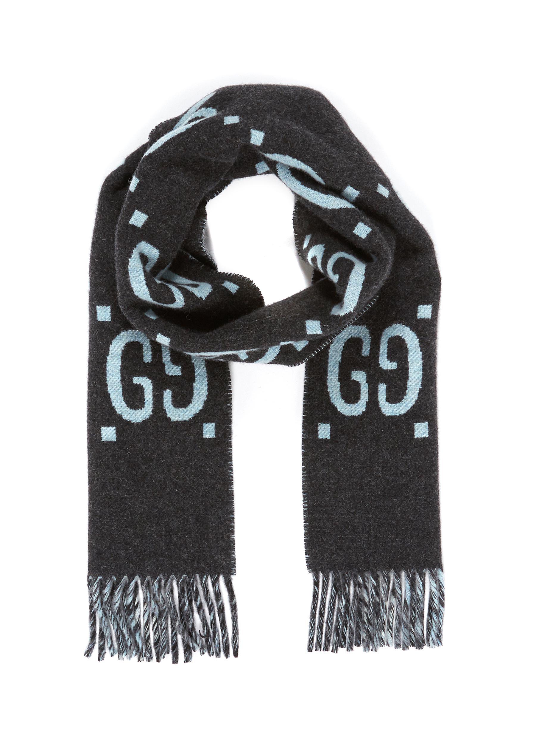 799f733bebaf6 Gucci. GG logo intarsia wool scarf