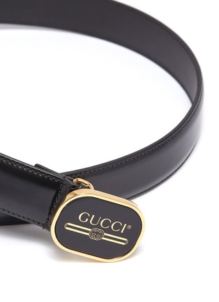 Detail View - Click To Enlarge - GUCCI - Logo buckle leather belt
